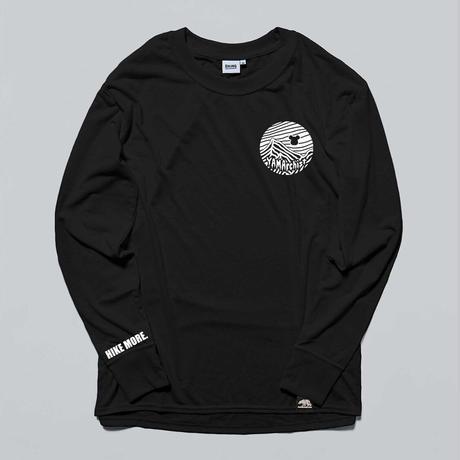 "BRINGxMOUNTAINJAM  DRYCOTTONY Long sleeve T-shirt ""YAMArchist""  Black"