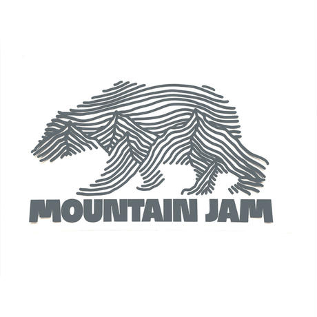 MOUNTAIN JAM CUTTING sticker (Matte black)