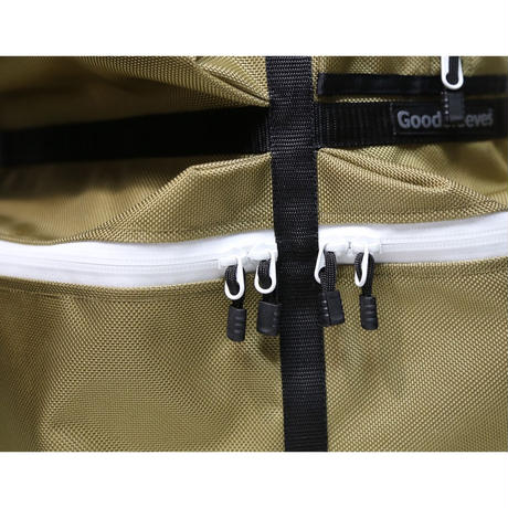 BackPack M【Oak & White Zipper】