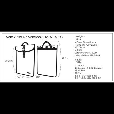 """MacCase/現行Mac Book Pro 15"""" 【受注生産品 現在:納期4日程】"""