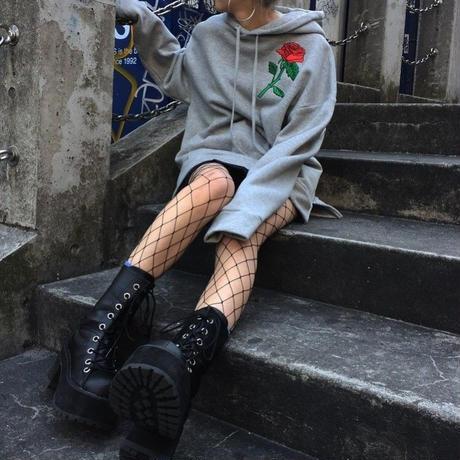 EA0151 【HIGHKNOCK】attach rose hoodie
