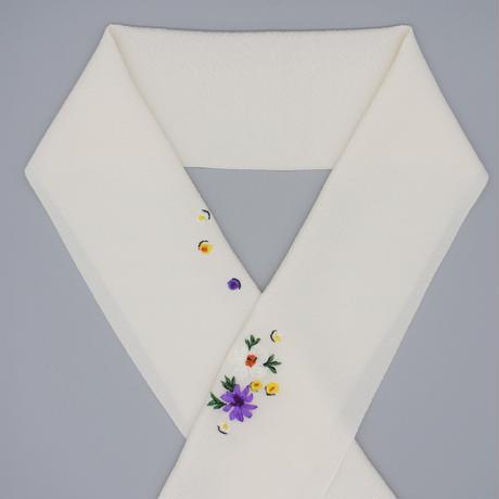 刺繍半衿「花壇」