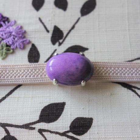 帯留「セラミック/紫」