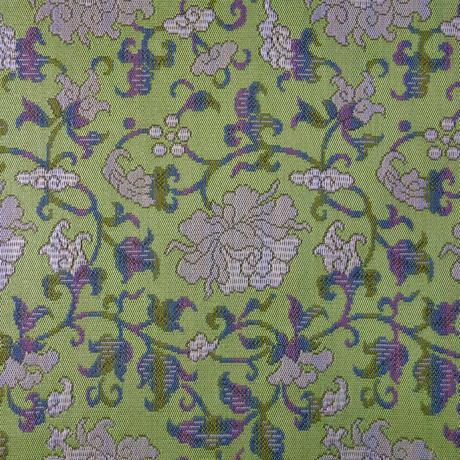 西陣織半巾帯「金魚紋と牡丹唐草」