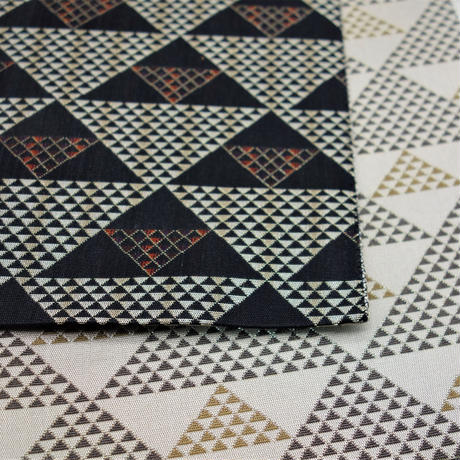 西陣織半巾帯「白鱗×黒鱗」