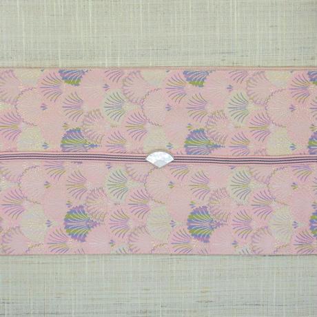 西陣織半巾帯「松葉青海×縞」