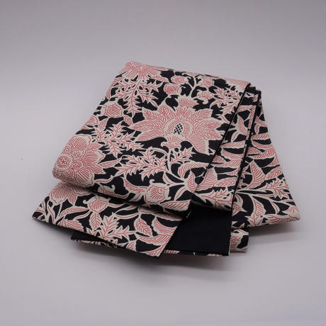 半巾帯「黒地更紗」