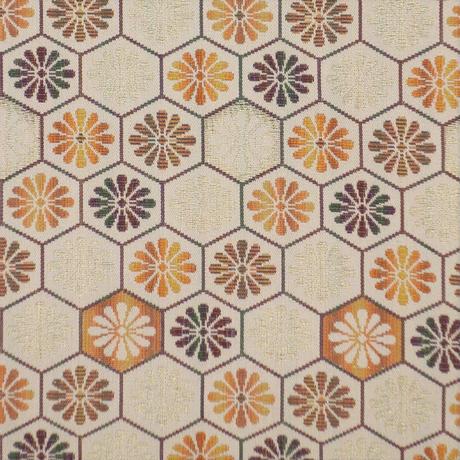 西陣織半巾帯「菊亀甲×扇紋」