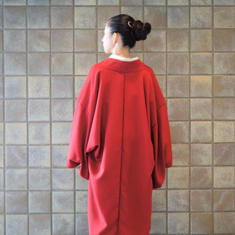 変り羽織 (単衣)「アムンゼン/エンジ」