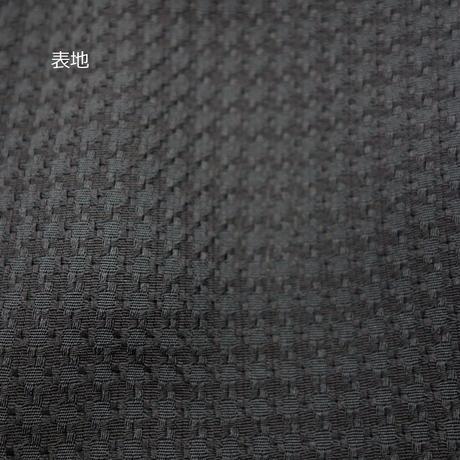 袖なし羽織「シャギージャガード/クロ」