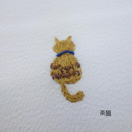 刺繍半衿「猫」