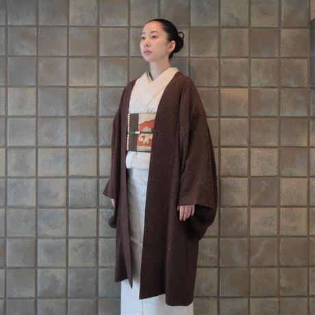 変わり羽織(単衣)「ステッチジャガード」茶