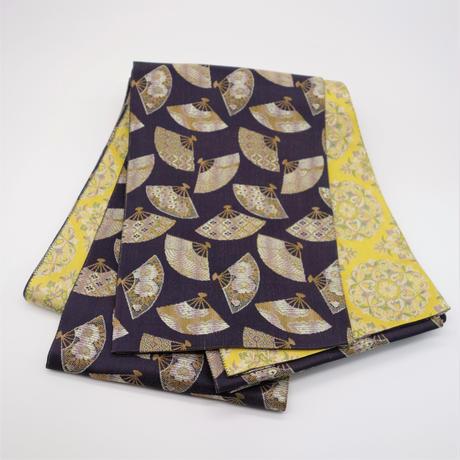 西陣織半巾帯「華文×扇紋」