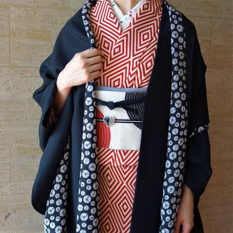 変り羽織 (単衣)「アムンゼン/クロ」