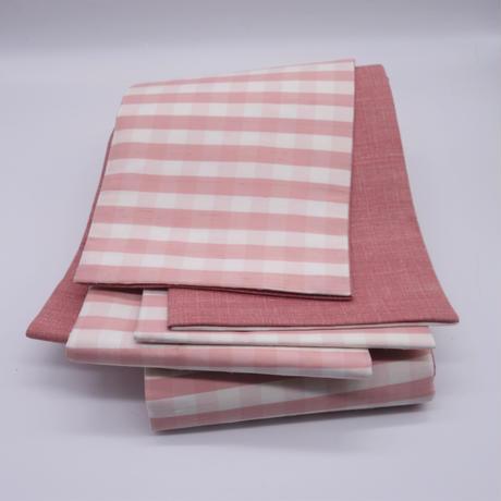 半巾帯「ピンクチェック」