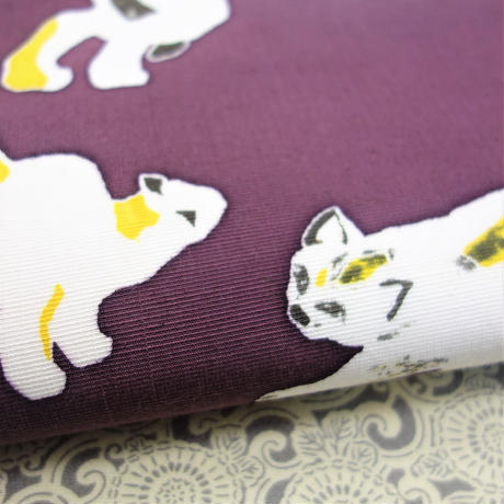 名古屋帯「犬と猫」