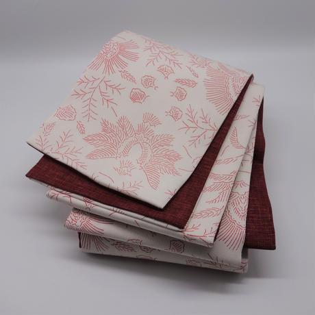 半巾帯「線描き更紗」