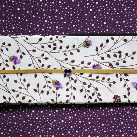半巾帯「リラ刺繍」