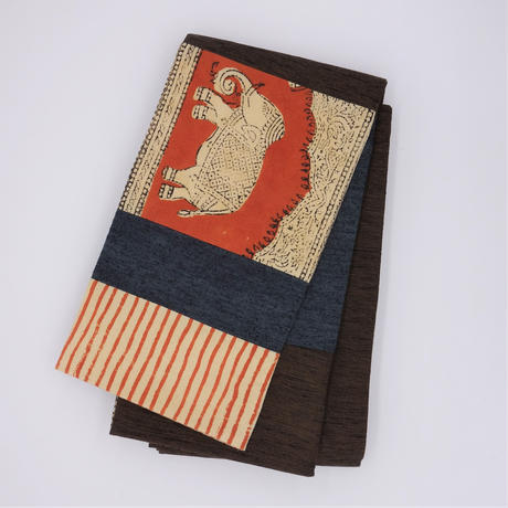 半巾帯「更紗ハギ/ゾウ」