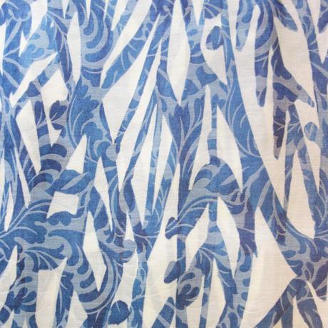 夏きもの「水の森/ブルー」