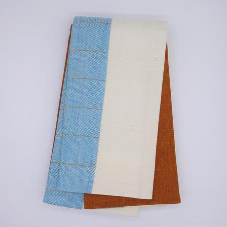 半巾帯「生平ブルー縞」