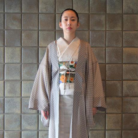 薄羽織「シフォンドット/モカベージュ」