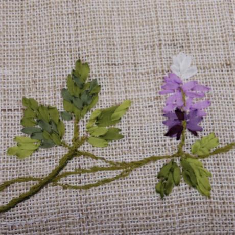 麻八寸帯「くずの花」