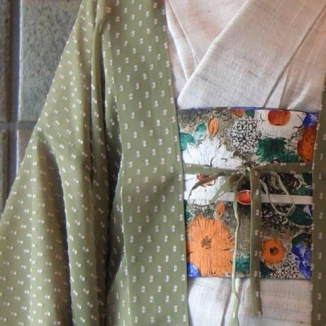 薄羽織「シフォンドット/カーキ」