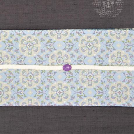 西陣織半巾帯「糸屋輪宝×花鳥梅花紋」