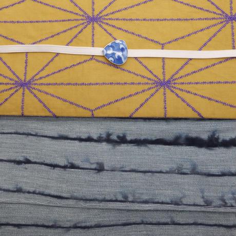 半巾帯「麻の葉刺しゅう」