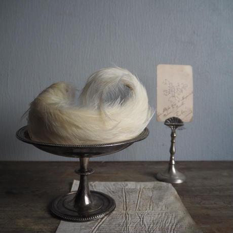 ornement de cheveux de plume blanc