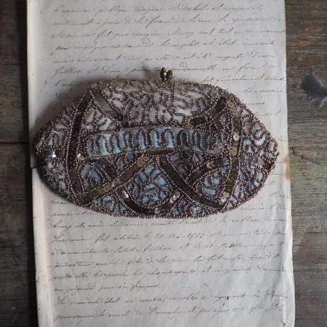 sac  brodé perles  vintage