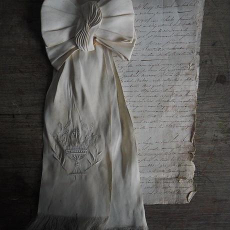 ruban  de communion brodé