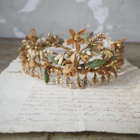 ワックスフラワーの花冠