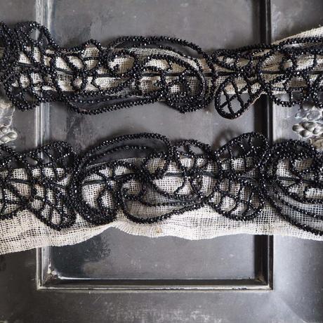 ruban perle noir
