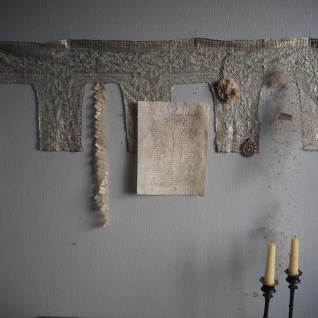 antique metal  lace
