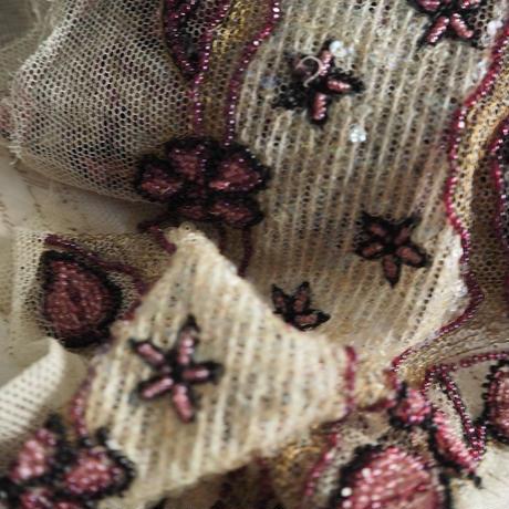 ビジューチュール ruban  fleur  1mcut