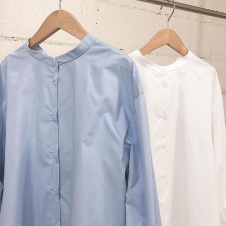 両ボタンデザインシャツチュニック
