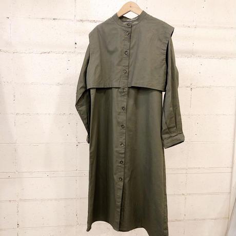 レイヤードデザインシャツワンピース