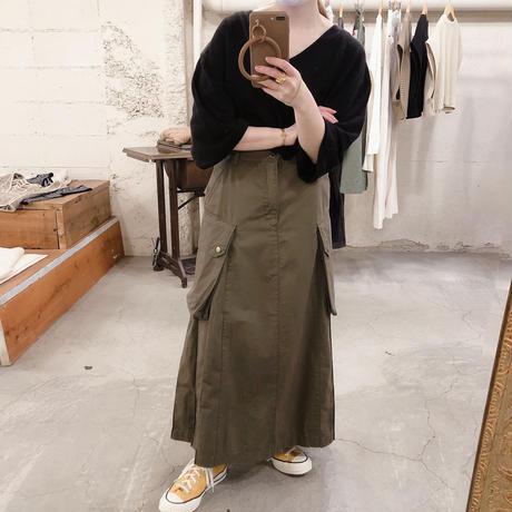 サイドプリーツミリタリー スカート