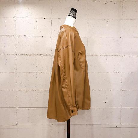 エコレザーシャツジャケット