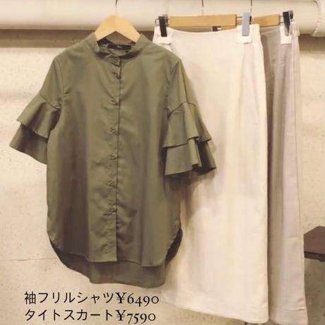 袖フリルシャツ