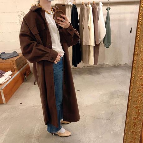 フェイクウールオーバーシャツジャケット