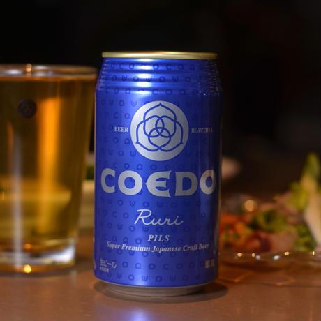 【UKIYO-E PROJECT×COEDO】「時鐘江戸俤(ときのかね えどのおもかげ)」と定番ビールの4種 350ml缶×12本セット