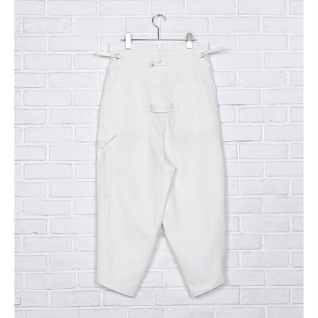 【 Aquvii Jeans 】aq520 / GRAND ( CONTROL PAINTER PANTS / WHITE )