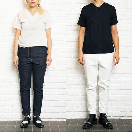 【 Aquvii Jeans 】aq501 / ABBY ( CONTROL PANTS / WHITE  )