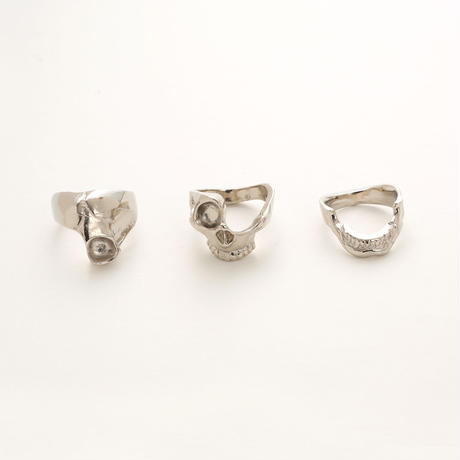 Skull parts ring #11 (Plated)