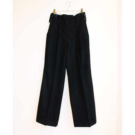 French NAVY WOOL PANTS / TAG DOES NOT MAKE YOU
