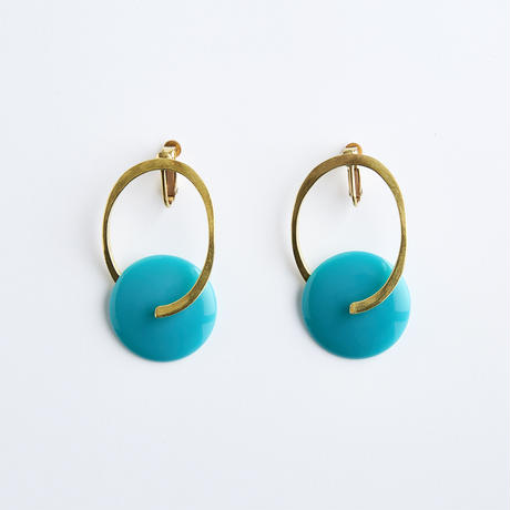 FOUNDATION earring (Turquoise)