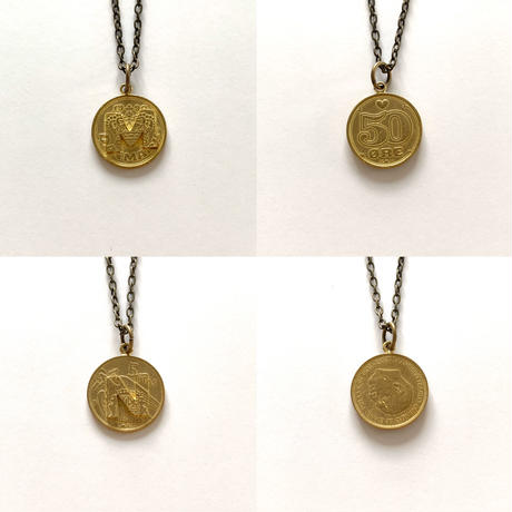 Initial coin series (Necklace / Gold)